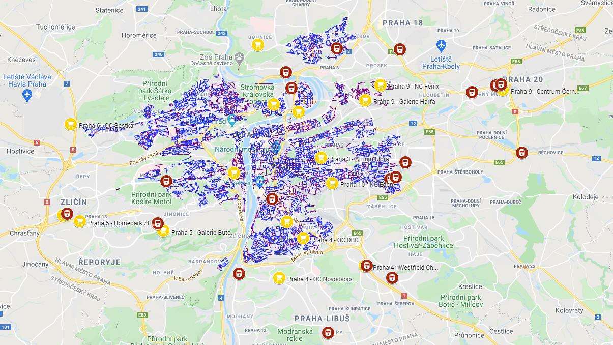Parkování vPraze 2021: Kde parkovat zdarma, modrá aoranžová zóna, P+R parkoviště