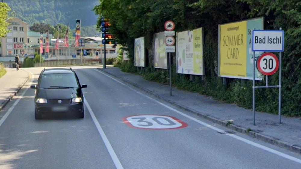 Rakouská města omezují rychlost na 30 km/h, za překročení hrozí pokuta 50 € | © Google Mapy
