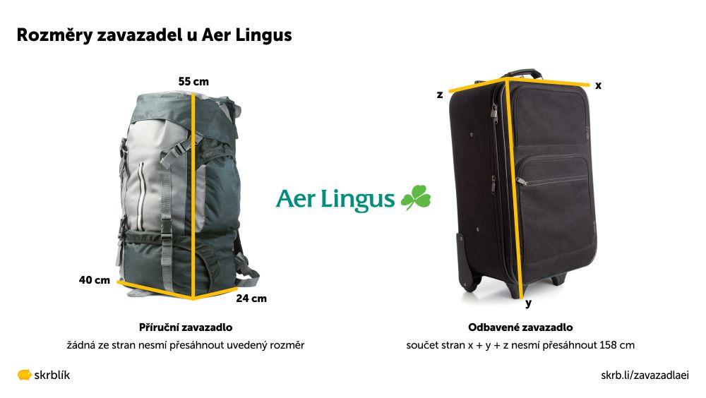 Příruční / kabinová / palubní zavazadla u Aer Lingus 2020