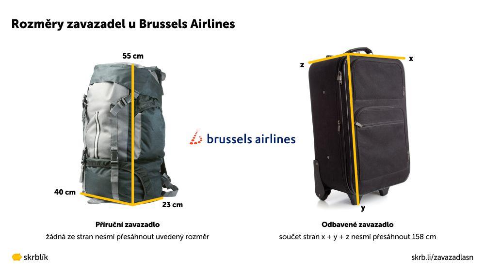 Příruční / kabinová / palubní zavazadla u Brussels Airlines 2021