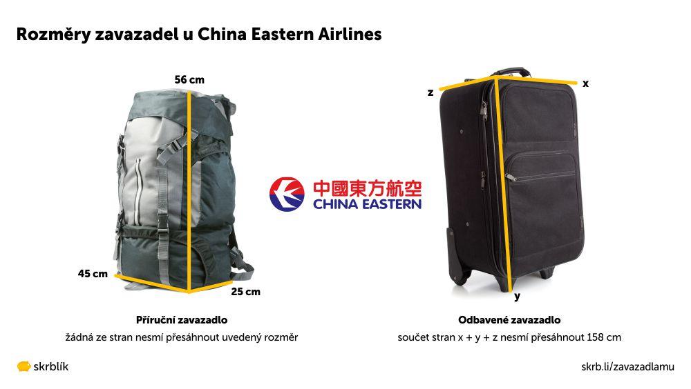 Příruční / kabinová / palubní zavazadla u China Eastern Airlines 2020