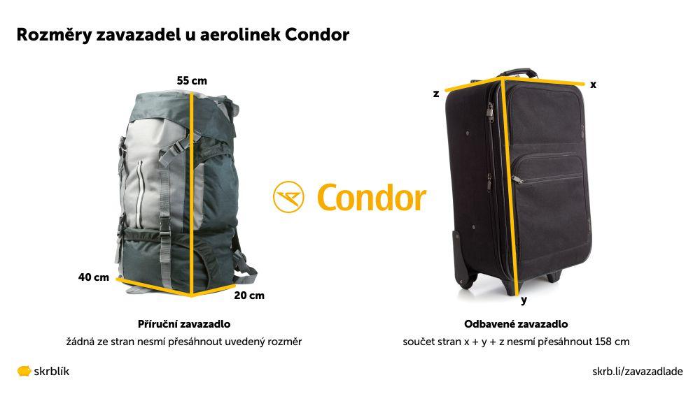 Příruční / kabinová / palubní zavazadla u Condor 2020