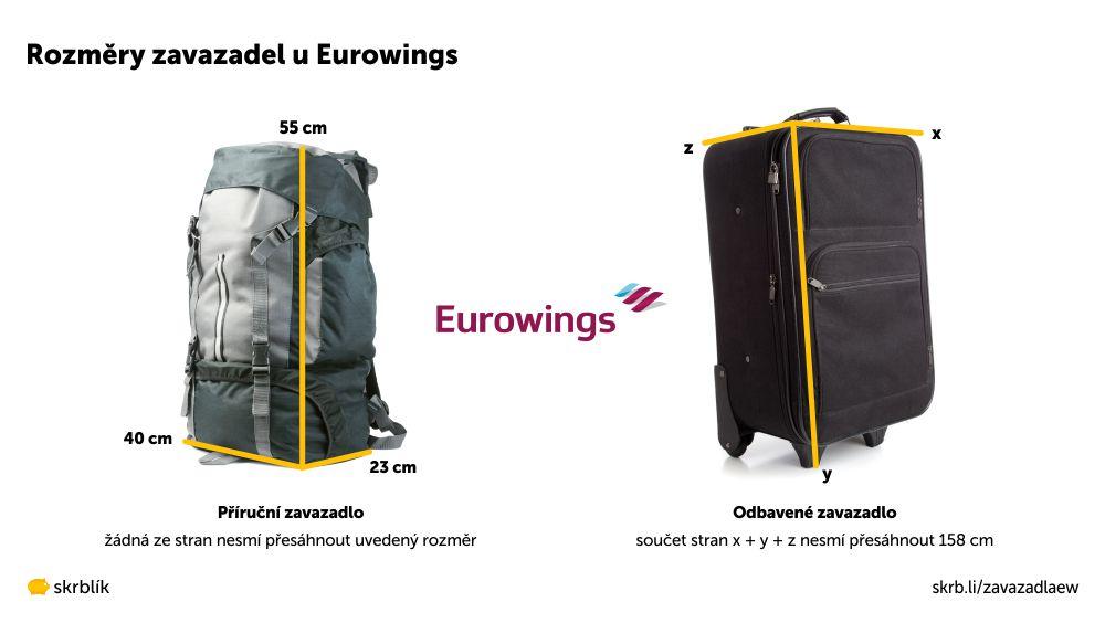 Příruční / kabinová / palubní zavazadla u Eurowings 2021