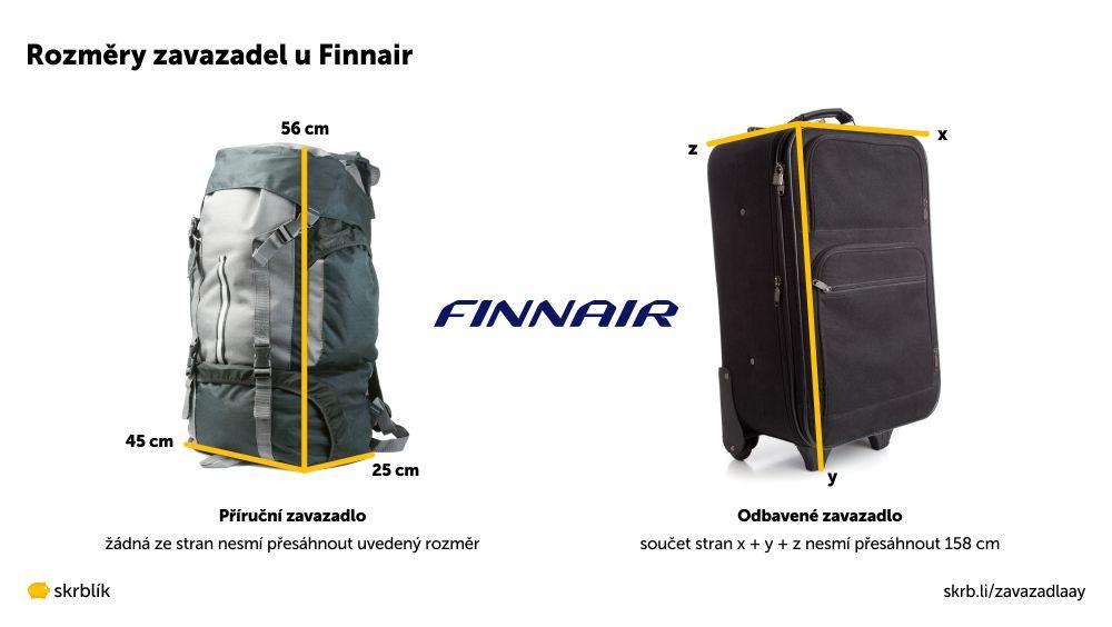 Příruční / kabinová / palubní zavazadla u Finnair 2020