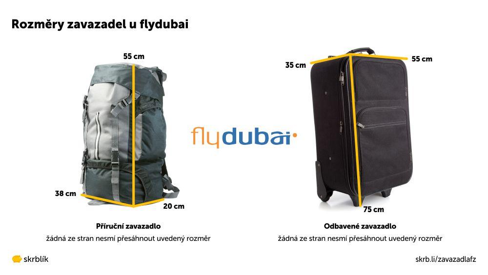 Příruční / kabinová / palubní zavazadla u Flydubai 2021