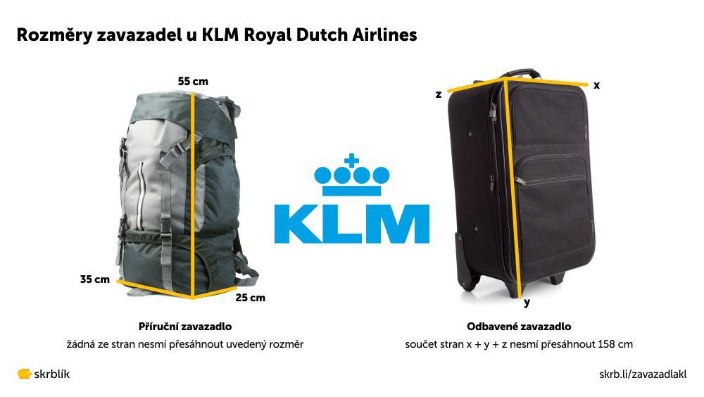 Příruční / kabinová / palubní zavazadla u KLM Royal Dutch Airlines 2021