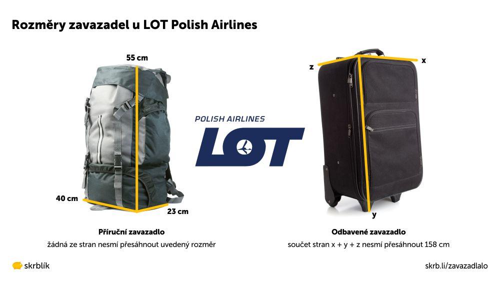 Příruční / kabinová / palubní zavazadla u LOT Polish Airlines 2021