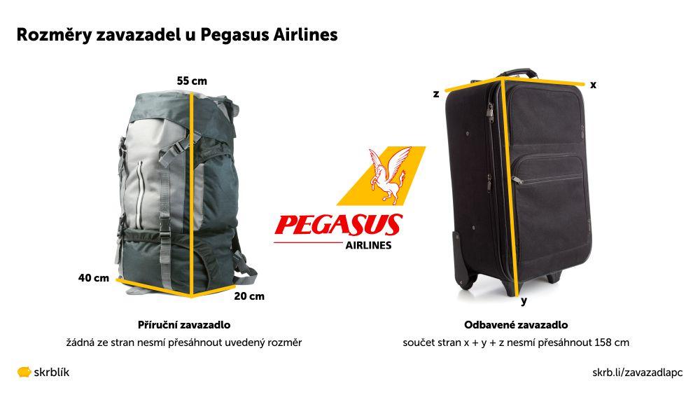 Příruční / kabinová / palubní zavazadla u Pegasus Airlines 2020