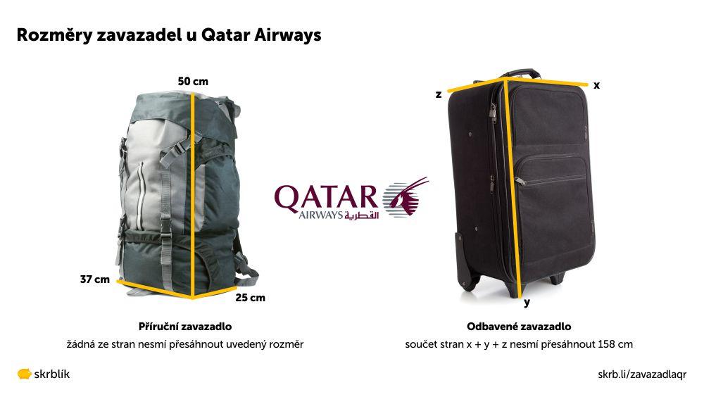 Příruční / kabinová / palubní zavazadla u Qatar Airways 2021