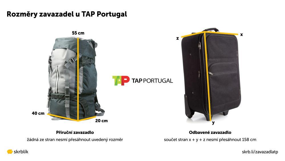 Příruční / kabinová / palubní zavazadla u TAP Portugal 2020