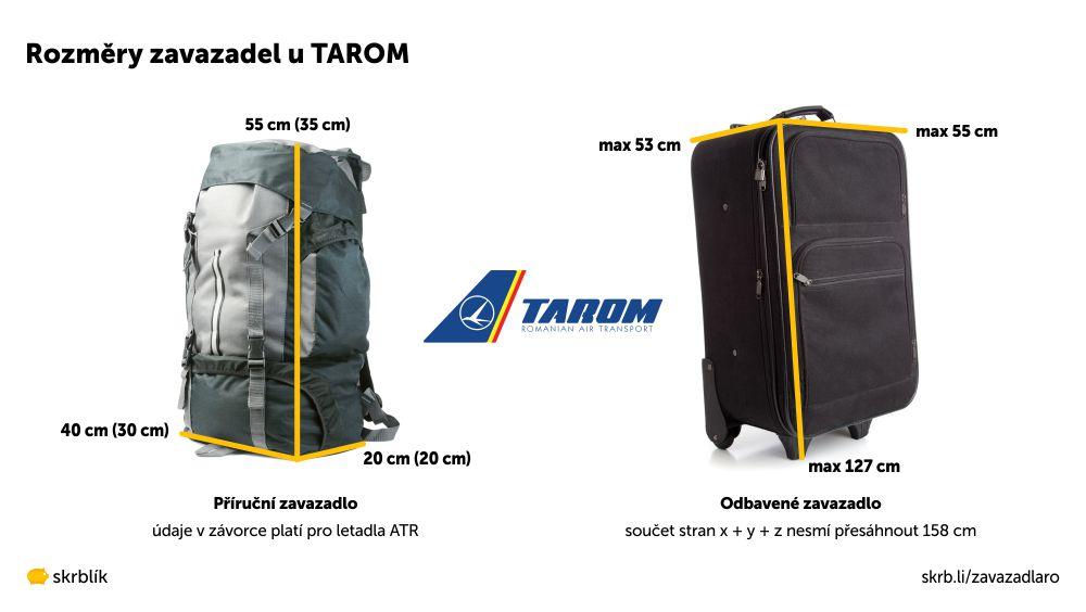 Příruční / kabinová / palubní zavazadla u TAROM 2021