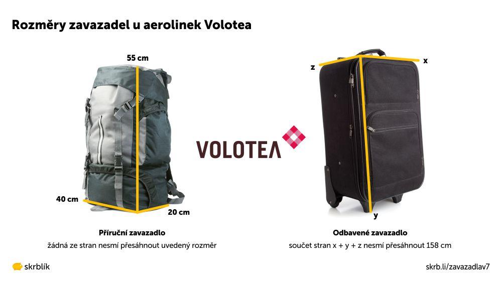 Příruční / kabinová / palubní zavazadla u Volotea 2020