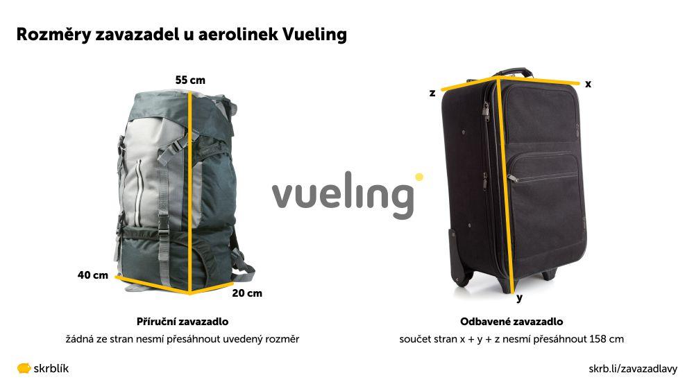 Příruční / kabinová / palubní zavazadla u Vueling 2021
