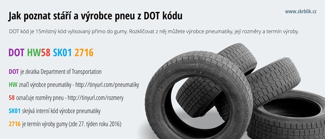 Jak poznat stáří a výrobce pneumatiky z DOT kódu