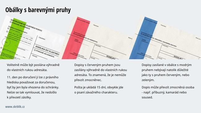 Obálky s barevnými pruhy