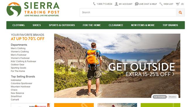Návod jak nakupovat na Sierra Trading Post