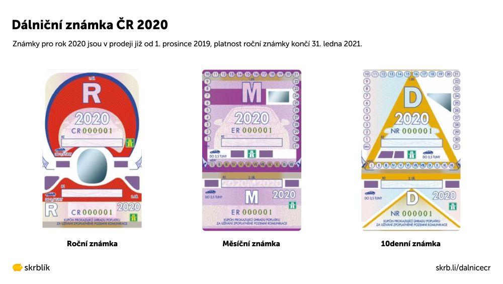 Dálniční známky ČR 2021