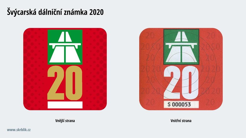 Dálniční známky Švýcarsko 2017