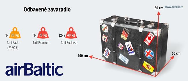 Odbavená (zapsaná) zavazadla u Air Baltic 2017