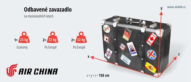 Odbavená (zapsaná) zavazadla u Air China 2020