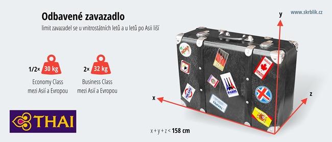 Odbavená (zapsaná) zavazadla u Thai Airways 2020