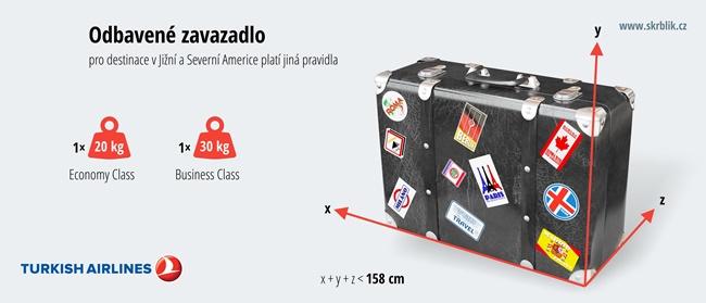 Odbavená (zapsaná) zavazadla u Turkish Airlines 2020