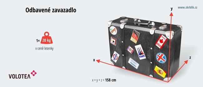 Odbavená (zapsaná) zavazadla u Volotea 2017