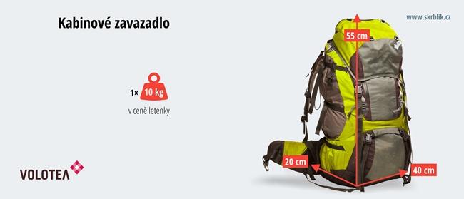 Příruční / kabinová / palubní zavazadla u Volotea 2017